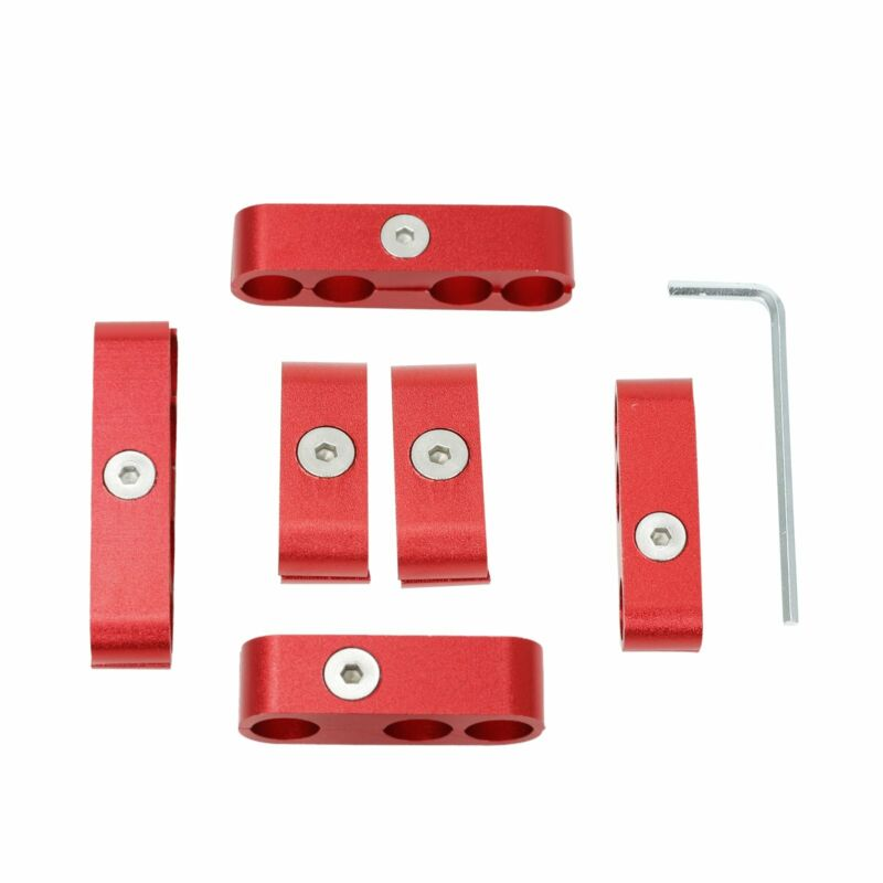 Red Aluminum 7mm 8mm 9.5mm Spark Plug Wire Separators Dividers Looms For SBC 350