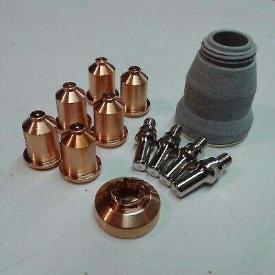 12pc Shielded Consumable Starter Kit Lotos Ltp5500d Plasma Cutter Pt-60 Torch