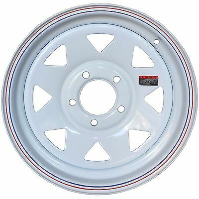15'' White Spoke Trailer Wheel 5x4.5 Ford Bolt Pattern