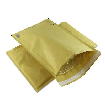 50 x GOLD BUBBLE ENVELOPES 300x445mm(J/6)(EP9)Padded Bags LARGE Mailing