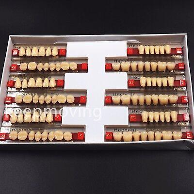 3 Set Of 841 Dental Acrylic Resin Denture Teeth Vita Color A2 Upper Lower Shade