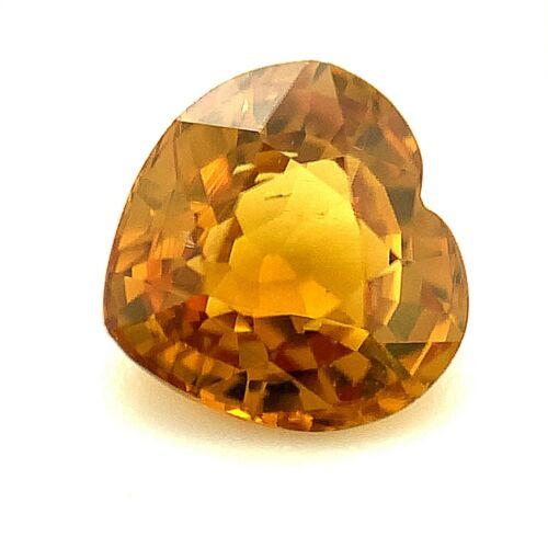 1.44ct Honey Grossular Garnet, Heart, VS, Madagascar Natural Gemstone *Video*