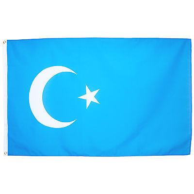 Fahne Ostturkestan Querformat 90 x 150 cm Hiss Flagge Nationalflagge