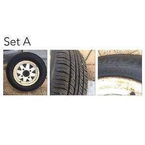 Subaru rims/tyres 4 stud Hamersley Stirling Area Preview