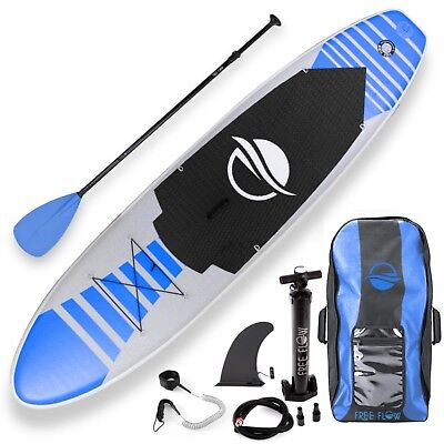 SereneLife Free-Flow Inflatable Stand Up Water Paddle-Board