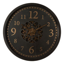 Glitzhome Modern Contemporary Large Mechanical Gear Wall Clock Home Office Decor