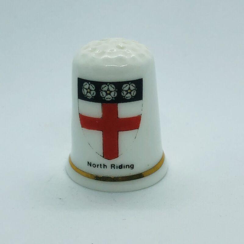 Birchcroft Fine Bone China Souvenir Thimble North Riding Yorkshire Coat of Arms