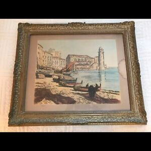 Vintage Gold frame with glass