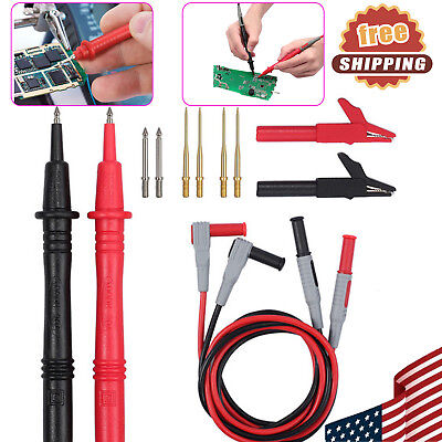 12 In 1 Multimeter Probe Replaceable Probe Clamp Test Lead Kit Alligator Clips