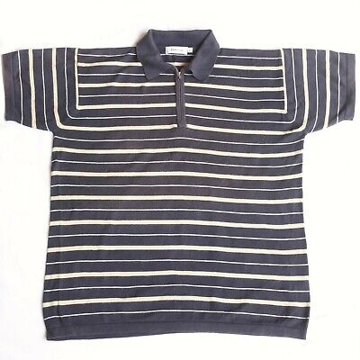 Johnstons of Elgin Knitted Cotton Polo Shirt, Large