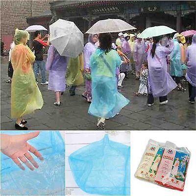 1Pc Emergency Gear Disposable Rain Coat Raincoat Poncho Survival Travel Hiking