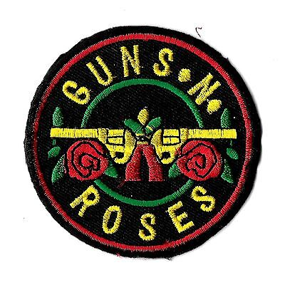 """New Guns N' Roses' Black' ' 2 1/2 """" Inch Iron on Patch Free Shipping"""