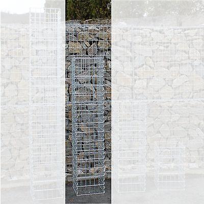 Gabionen-Säule H:150 cm 4-Eck Säulengabione Steinkorb Gabione Maschung 10x5 cm