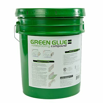 Green Glue Soundproofing Damping Compound - 5 Gallon Pail Bucket
