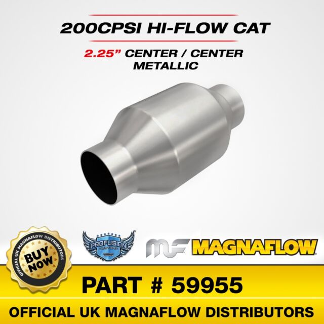 """2.25"""" 57mm Magnaflow Universal High Flow Sports Catalytic 200 Cell Cat 59955"""