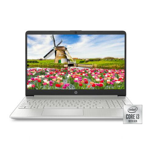 "NEW HP 15.6"" HD Intel 10th Gen i3-1005G1 3.4GHz 4GB RAM 128GB SSD Win 10 Laptop"