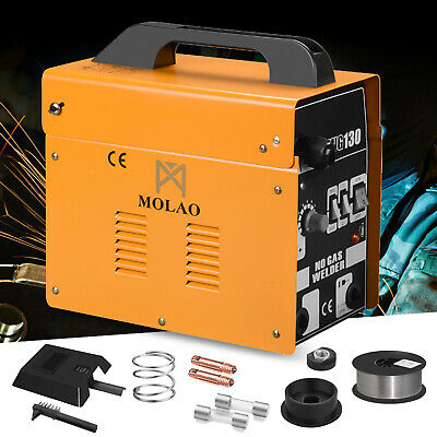 Mig 130 Welder Gas Less Flux Core Wire Automatic Feed Welding Machine Wmask