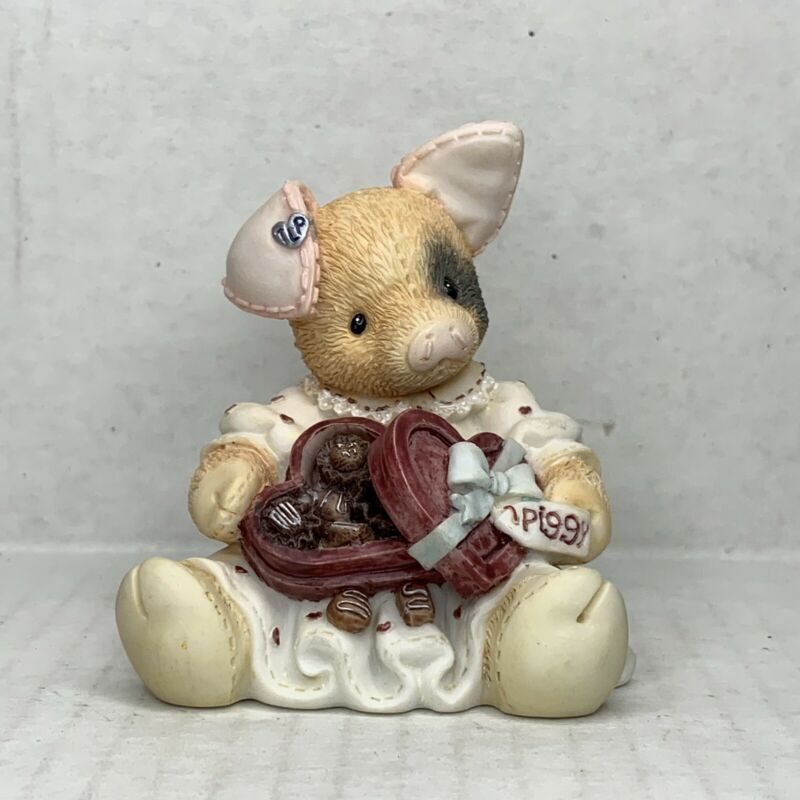 This Little Piggy Figurine 1996 Youre Sow Sweet Enesco Vintage Valentines Heart