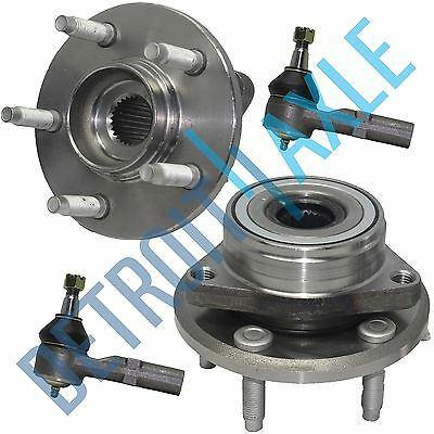 1996-2007 Ford Taurus Mercury Sable 2 Front Wheel Bearing & Hub 2 Outer Tierod