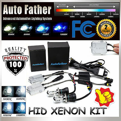 55W HID Xenon H4 9003 HB2 Conversion KIT Headlight HiLo Beam Ballast All Colors