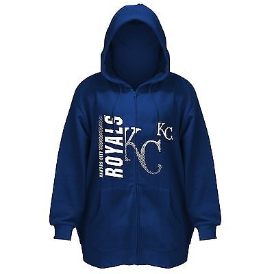 kansas city royals womens plus size full zipper hooded sweatshirt 1xl for sale  Shipping to Canada