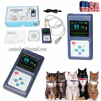 Us Handheld Veterinary Pulse Oximeter Cms60dvetpr Spo2 Monitorpc Software