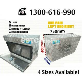 Pair Under Tray L750*W250*H400 Aluminium Toolbox Aus Stock ! Clayton South Kingston Area Preview