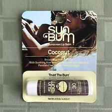 SUN BUM LIP BALM SPF 30 COCONUT .15 oz 11/2021 Vegan ...
