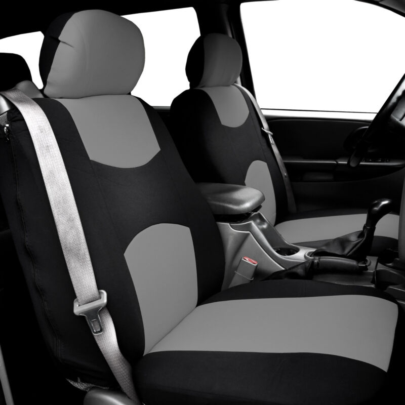 Car Seat Covers for integrated seat belts / built-in seat belt Gray