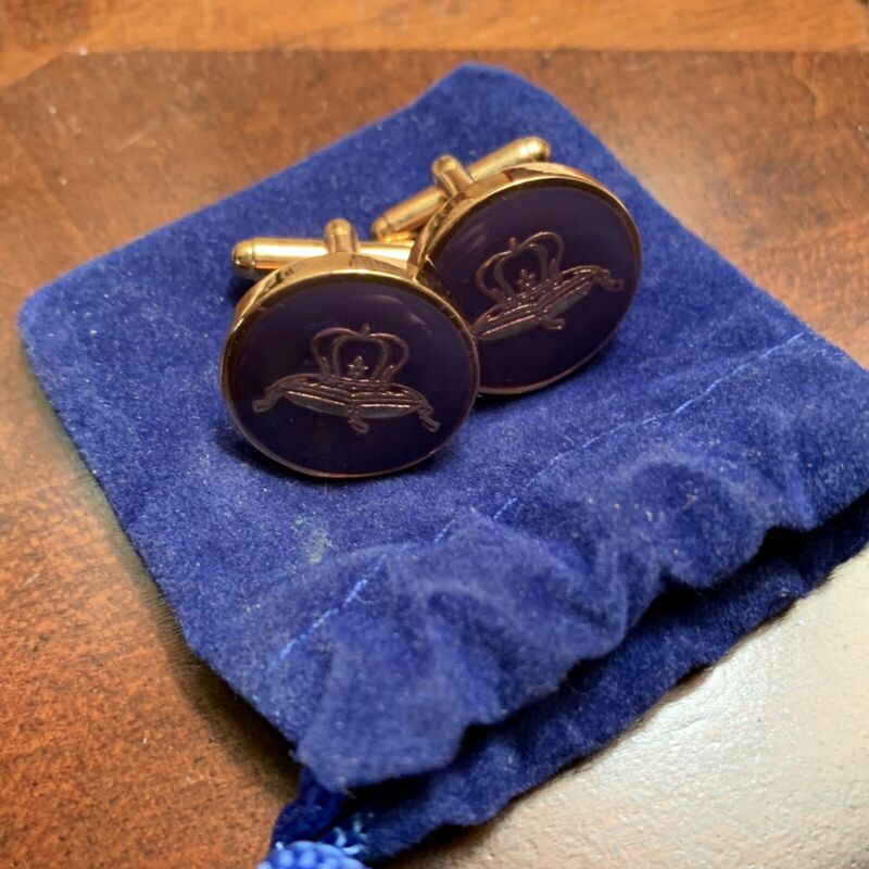 Crown Royal Whiskey Cuff Links Pillow Logo Cuff links Whisky NEW *