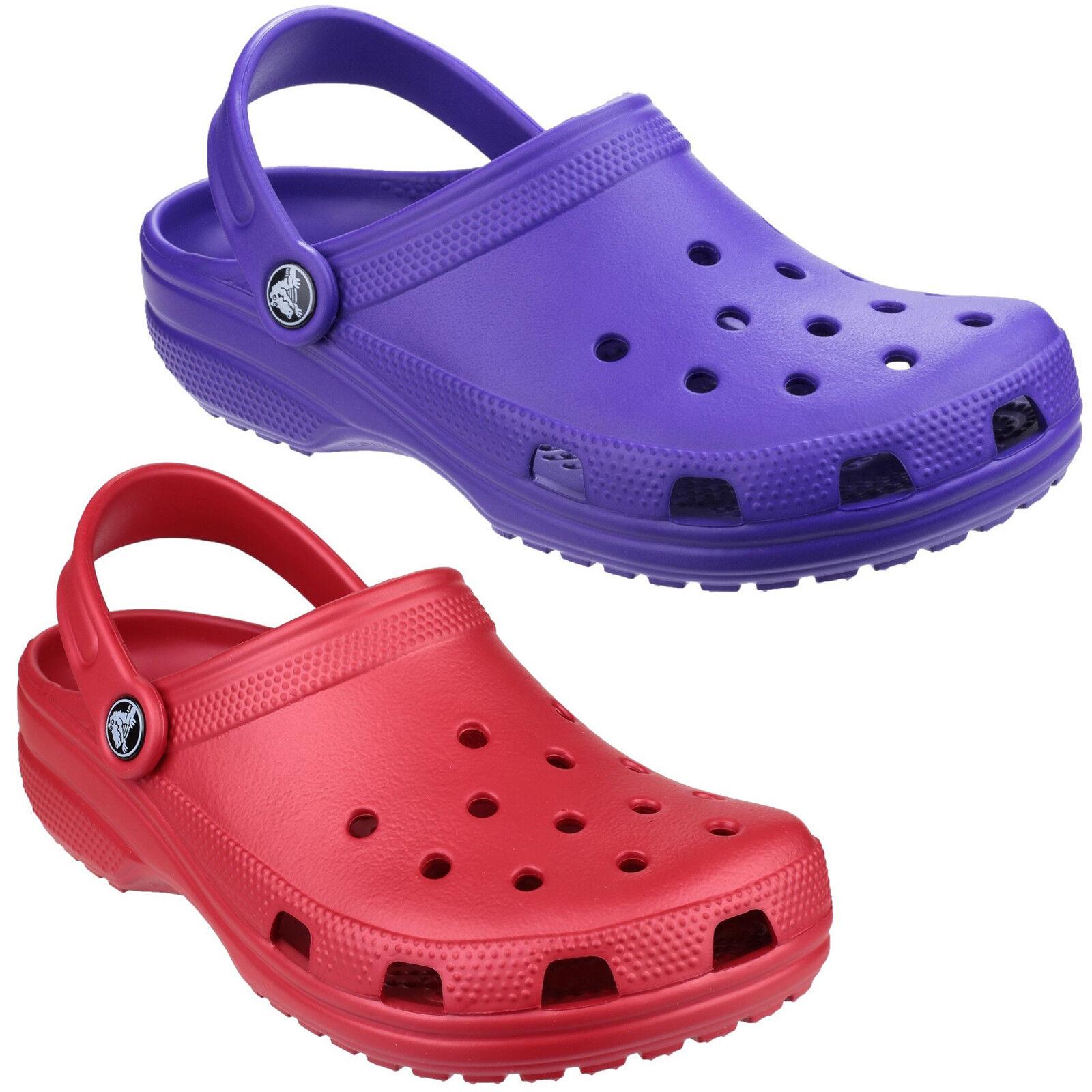 1a5a52e1100c Crocs Classic Clogs Womens Lightweight Croslite Foam Ventilated Massage  Sandals