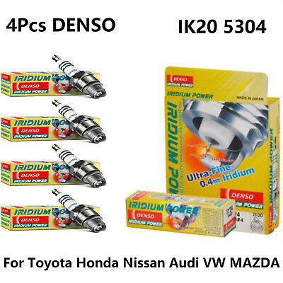 New 4Pcs DENSO IK20 5304 IRIDIUM POWER Spark Plug  Fits Toyota Honda Nissan