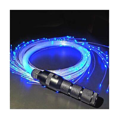 6ft LED Fiber Optic Whip, Light Up Rave Toys EDM Flow Dance Festival