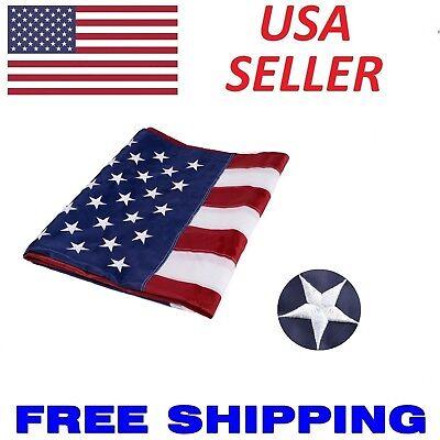 cda9665eaa50 3x5 ft US American Flag Heavy Duty Embroidered Stars Sewn Stripes Grommets  Nylon