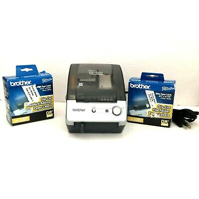 Brother Ql-500 P-touch Thermal Label Printer-partial Roll 2 New Rolls No Cable