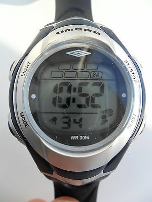 UMBRO DIGITAL WATCH LARGE FACE ALARM LIGHT SPORTS WRISTWATCH LADIES MENS U645U for sale  Shipping to South Africa