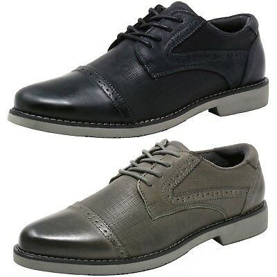 Double Diamond by Alpine Swiss Mens Genuine Leather Cap Toe Oxford Dress - Dresses Shoes