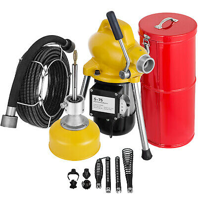 """3/4""""-5"""" Drain Cleaner 400 W Sectional Sewer Snake Drain Auge"""