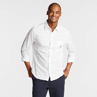 Nautica Mens Classic Fit Poplin Shirt In Medallion Print