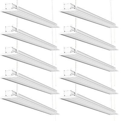 Sunco 10 Pack Flat Led Utility Shop Light 40w 300w 5000k Daylight 4500 Lm