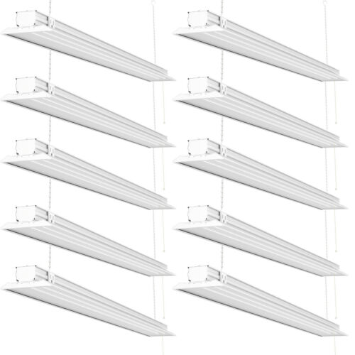 Sunco 10 Pack Flat LED Utility Shop Light 40W (300W) 5000K Daylight 4500 lm