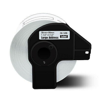 1 Roll White Dk 1208 Address Label For Brother Dk1208 Ql-1050 1050n 1060n 500ec