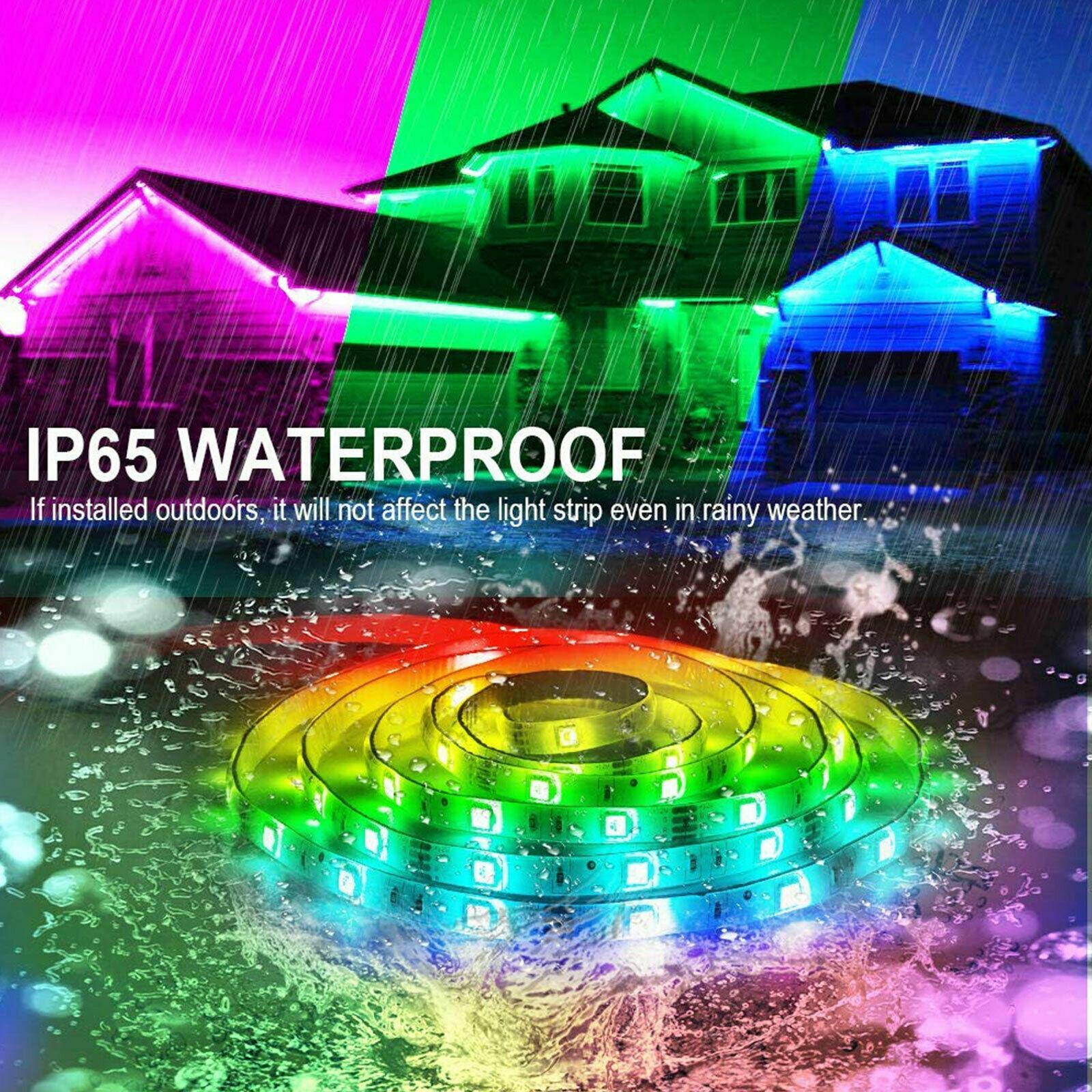 5M 16.4ft RGB Waterproof 300 LED 3528 SMD Flexible Strip Light 12V+Remote+Power Home & Garden