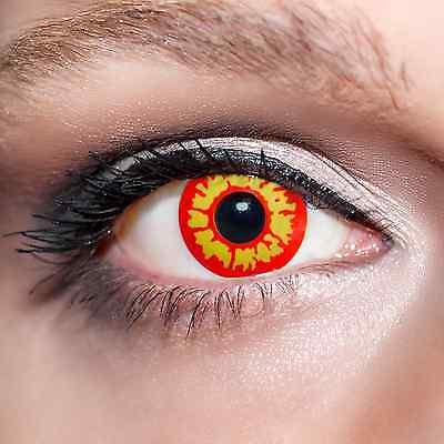 Rote / Gelbe Kontaktlinsen farbige Werwolf Augen Motivlinsen Werewolf Eyes;K521