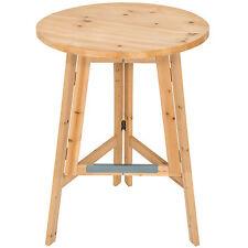 Table haute de bar restaurant jardin en bois massif pliable bistro pliante Ø78cm