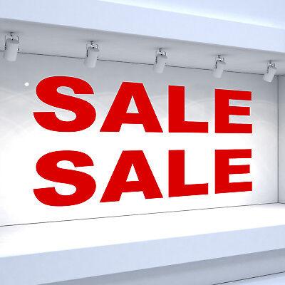 2 x SALE Shop Window Vinyl Sticker Retail Sign Decals - Classic Style
