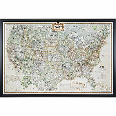 Craig Frames Executive United States Push Pin Travel Map With Pins   24 X 36