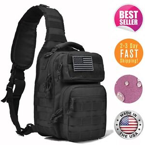Tactical Military Sling Bag Backpack Rover Pack Small Shoulder Molle Assault c24fdd93e