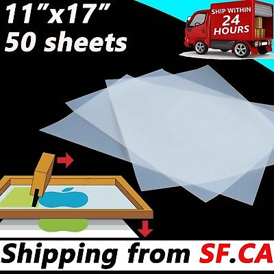 50 Sheets11 X 17waterproof Inkjet Transparency Positive Film Screen Printing