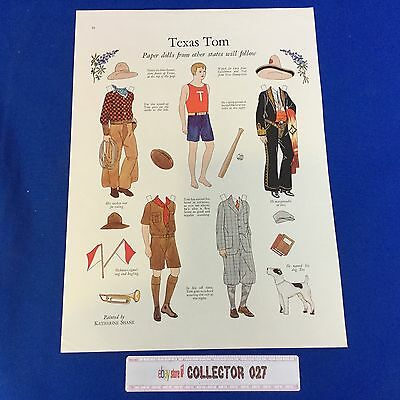 Boy Scout Paper Doll Cutouts Texas Tom with Boy Scout Uniform